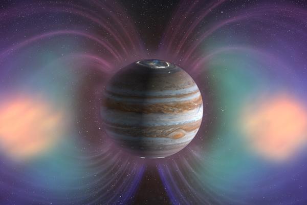 Từ trường tại sao mộc cực mạnh, khoảng hơn 20.000 lần so với Trái Đất
