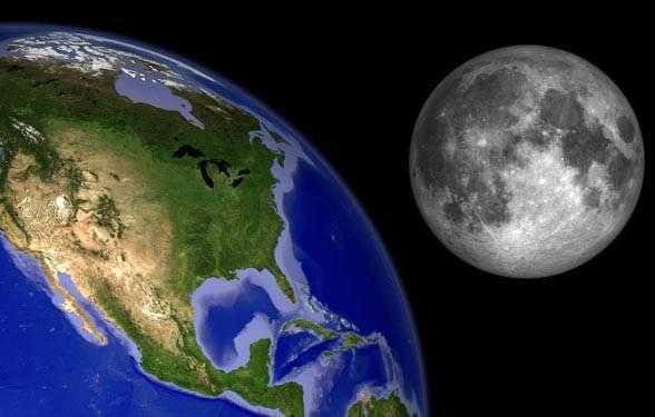 khoảng cách từ trái đất đến mặt trăng