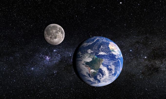 khoảng cách giữa trái đất và mặt trăng