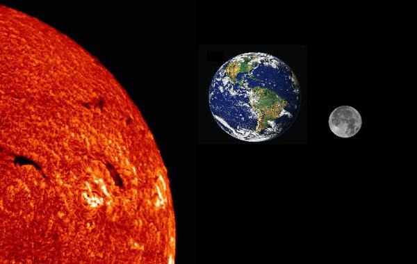 khoảng cách giữa trái đất và mặt trời
